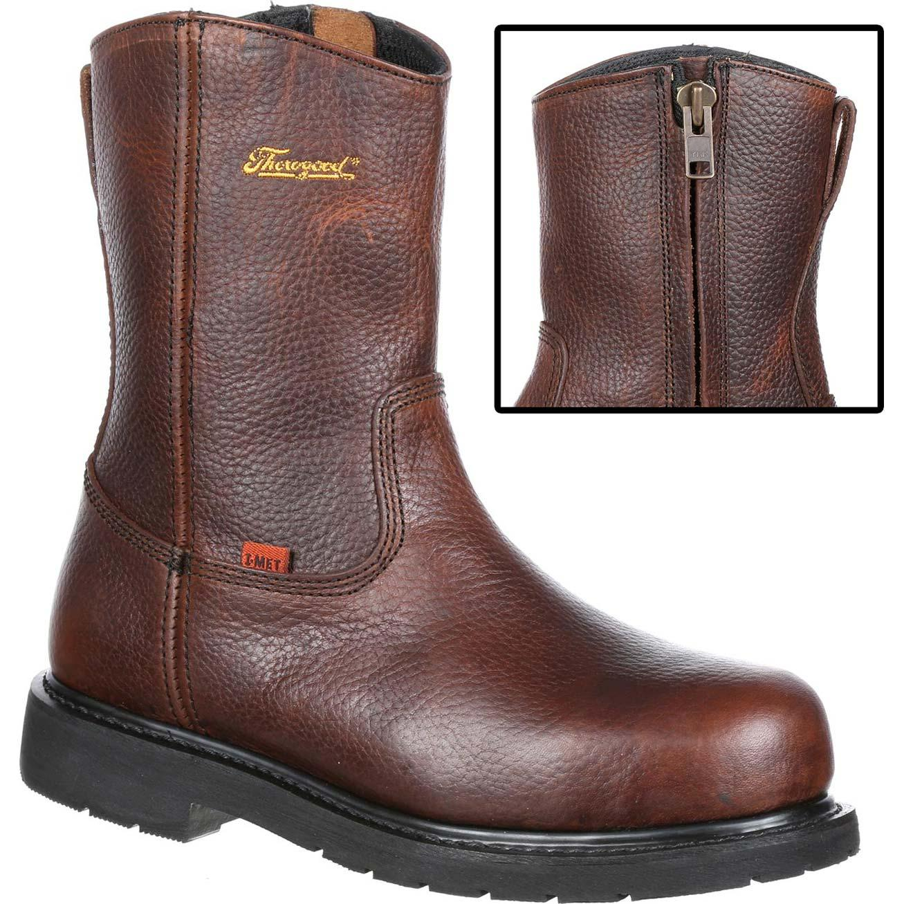 Thorogood Steel Toe Internal Metatarsal Side Zip